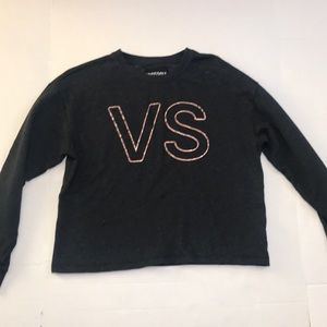 Victoria Sport Dark Gray Crew Neck Copper VS Logo